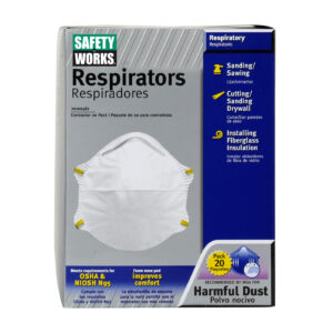 N95 Safety Works Disposable Respirator Masks 20 per Box