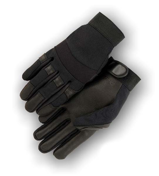 black deerskin mechanics gloves