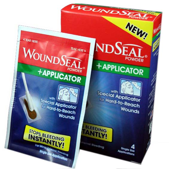 WoundSeal with 4 Applicators and Powders