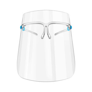 Clear Face Shield Protection with Glass Frames